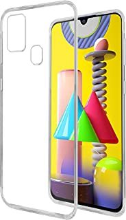 Amazon Brand - Solimo Mobile Cover for Samsung Galaxy M31 (Soft & Shockproof Back Case with inbuilt Cushioned Edges), Tran...