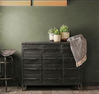 Aparador de estilo industrial Retro de Whaleycorn negro vintage de metal hierro cómoda de cajones armario de almacenamient...