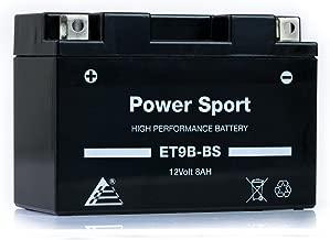 ExpertPower ET9B-BS 12v8ah YT9B-BS Replacment Sealed Maintenace Free 12V High Performance Powersport Motorcycle Battery