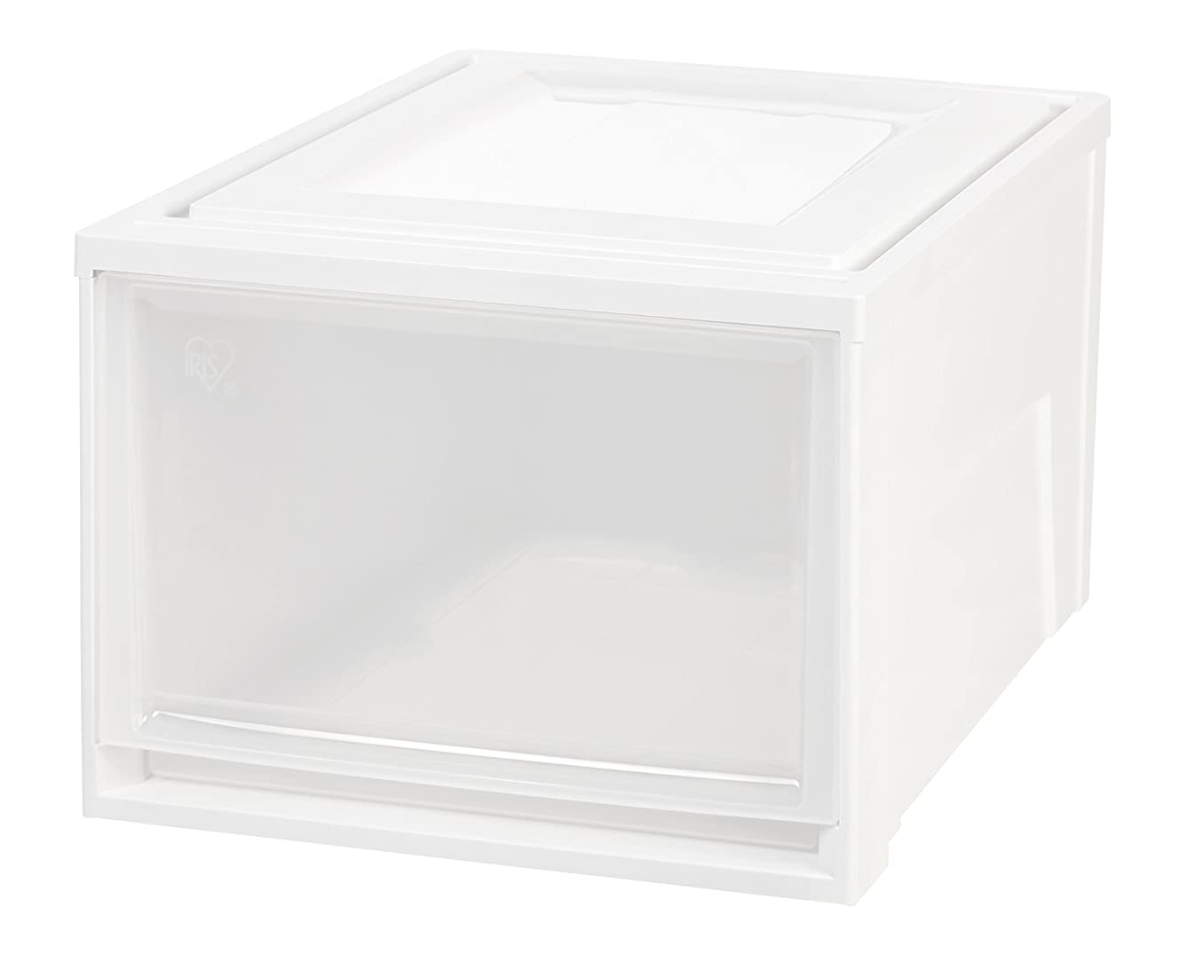 IRIS Deep Box Chest Drawer, White, 3 Pack