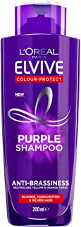 L'Oréal Paris Elvive Anti-Brassiness Purple Shampoo 200ml For Highlighted, Blonde And Grey Hair