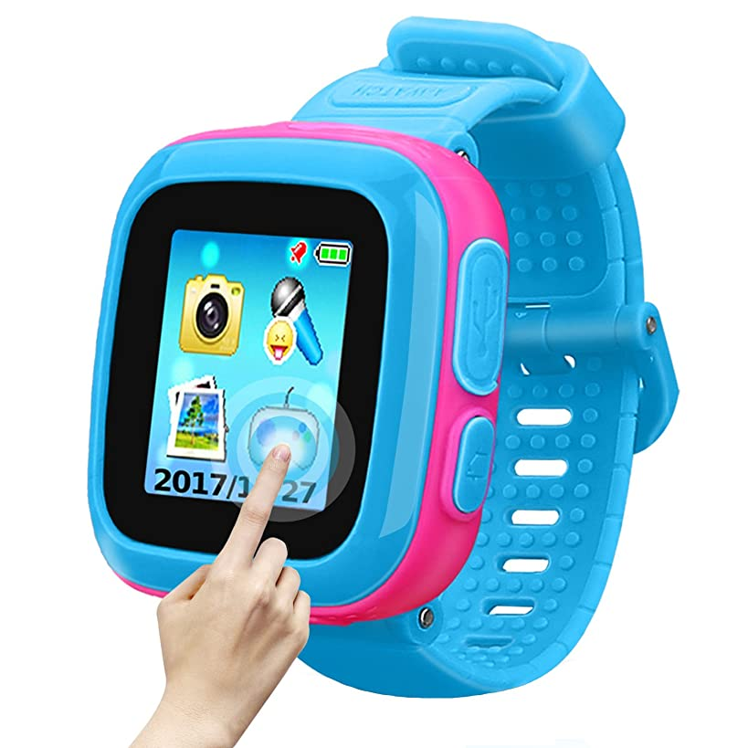 Game Smart Watch of Kids, Girls Watch with Game,Kids Smartwatch with Game Wrist Watch Education Toys Boys Girls Gifts (Blue Joint Pink)