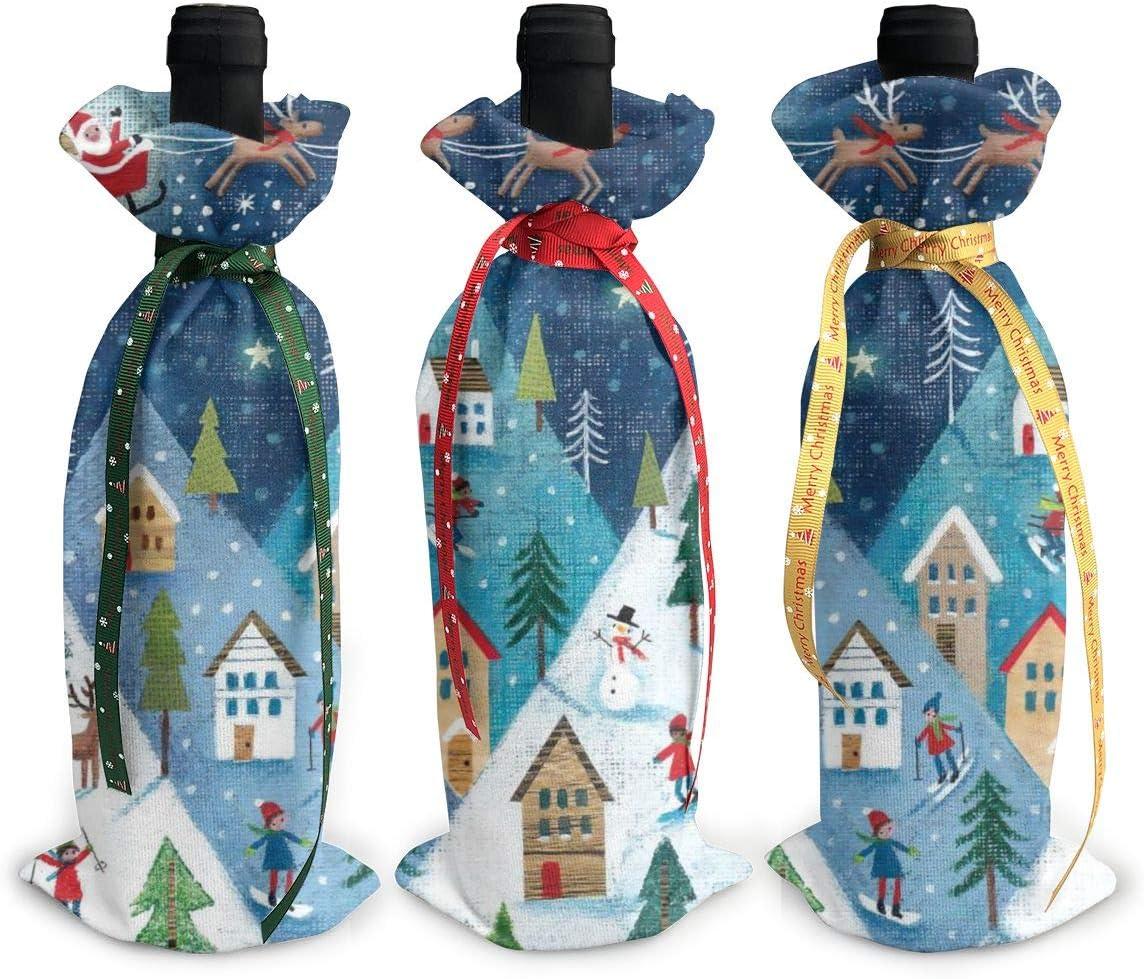 Reindeer Snow free shipping Santa Claus Cute Bombing new work Christmas Christmas3Pcs Xmas Red