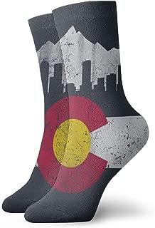 CHI-M Colorado Flag Skyline Classic Knee High Socks Stockings 30cm