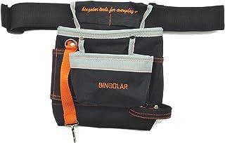 Bingolar bolsa de herramientas electricista bolsa de herramientas con cinturón para manual con ajustable correa de cintura, Ziptop Utility Pouch Herramienta Organizador Herramientas Eléctricas.