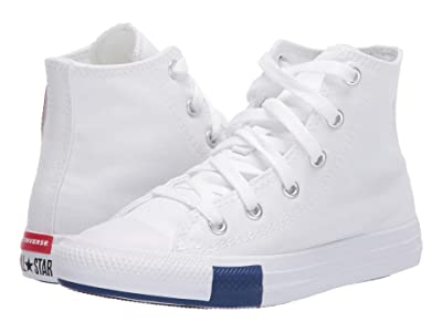 Converse Kids Chuck Taylor(r) All Star(r) Logo Play (Little Kid) (White/Rush Blue/Rose Maroon) Kid