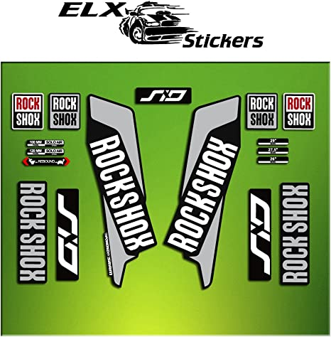 Pegatinas HORQUILLA Rock Shox SID 2016 ELX37 Stickers AUFKLEBER Autocollant Decals Bicicleta Cycle MTB Bike 29