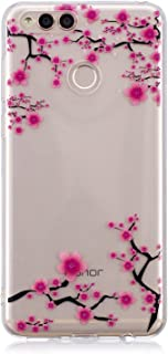 Honor 7X Case, Huawei Mate SE Case, Clear Design Printed Transparent Hard Case with TPU Bumper Protective Back Case Cover for Honor 7X/Huawei Mate SE