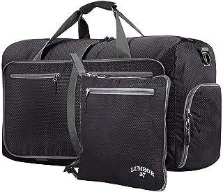 Lumbor37 Bolsa de Viaje y Deporte de Lona Plegable Mochila Unisex, Gym Duffle Bag 66cm 65L con un Bolsillo Separado para e...