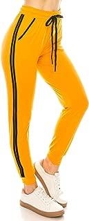 Women Drawstrings Jogger Pants - Lightweight Skinny Solid Basic Soft Stretch Pockets Sweatpants