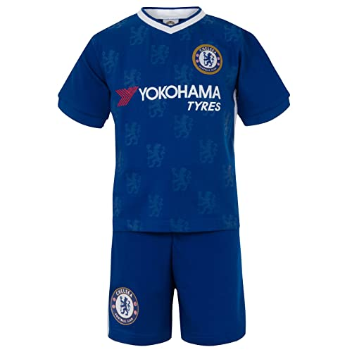 de94290c4 Chelsea FC Official Football Gift Boys Kids Short Pyjamas