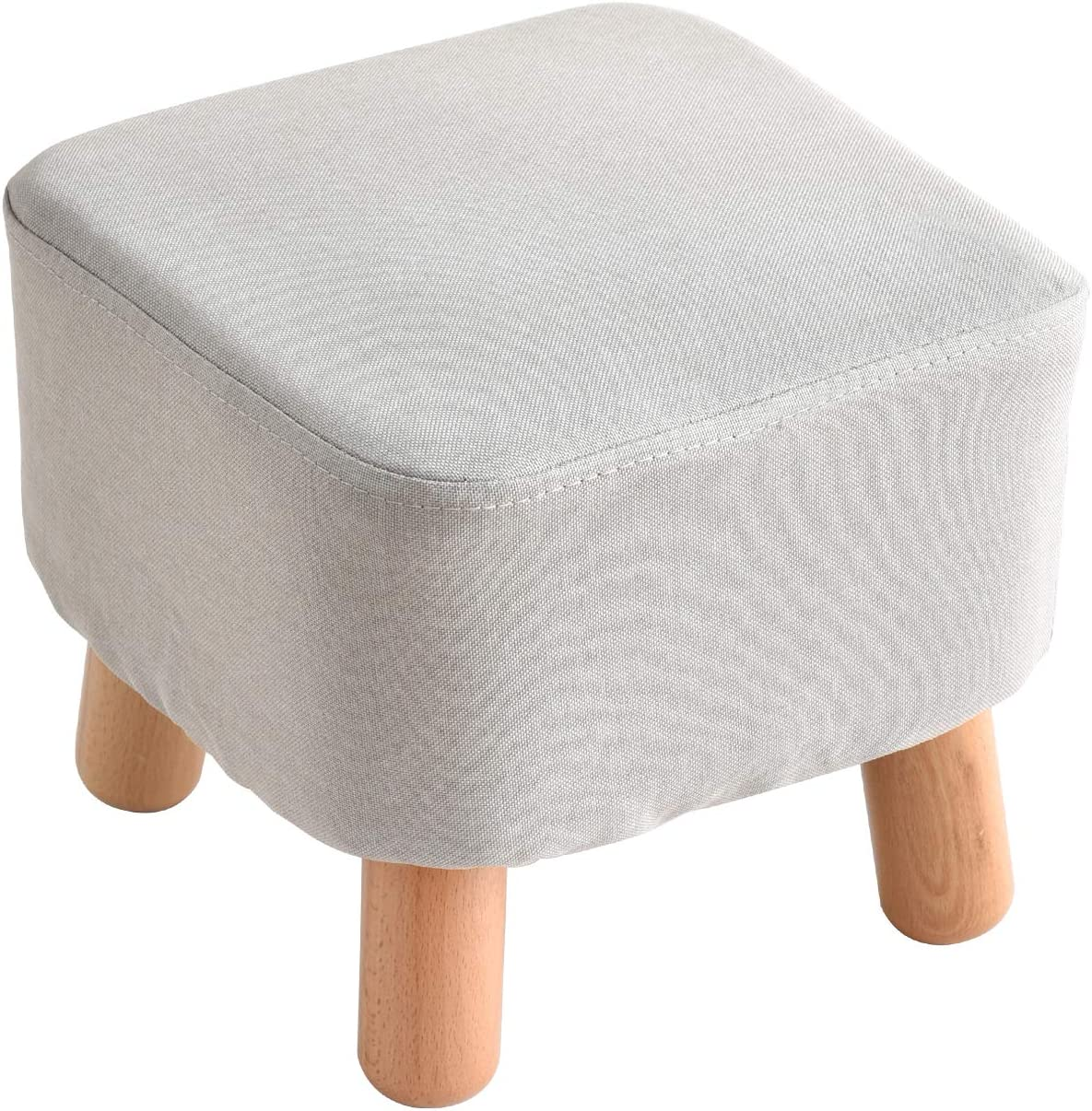 Bunnies Under desk 10 cm footstool with plastic feet  upholstered footstool  small foot stool  upholstered foot stool  handmade footstool