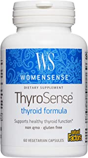 WomenSense ThyroSense by Natural Factors, Natural Supplement to Support Healthy Thyroid Function, Vegetarian, Non-GMO, 60 ...
