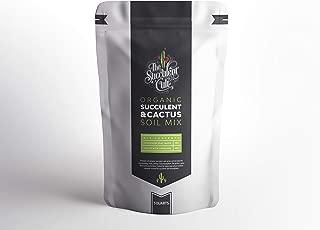 Premium Organic Succulent & Cactus Soil Mix, Fast Draining Pre-Mixed Blend (3 Quarts)