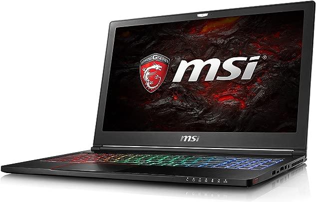 MSI GS63 7RE-023DE Stealth Pro  39 6 cm 15 6 Zoll  Gaming-Laptop  Intel Core i7-7700HQ Kabylake  16GB RAM  256GB SSD 1TB HDD  Nvidia GeForce GTX1050 Ti  Windows 10  schwarz GS63