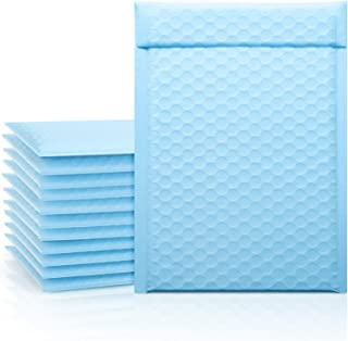 Fuxury Poly Bubble Mailer 6x10 Light Blue, 50 Pack Small Padded Packaging Bags, Bulk Envelope for Mailing & Shipping, Sel...