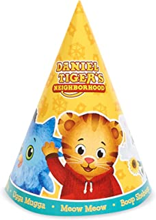 BirthdayExpress Daniel Tiger Party Supplies - Cone Hats (8) with Strings