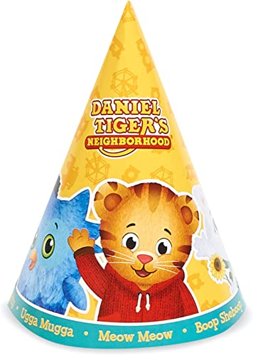 se descuenta Daniel Tiger Party Supplies - Cone Hats Hats Hats (8) with strings by BirthdayExpress  costo real