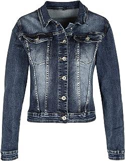 c8f1f04e7b5c SOLADA Giacca di Jeans Donna - Blu Scuro Cotone