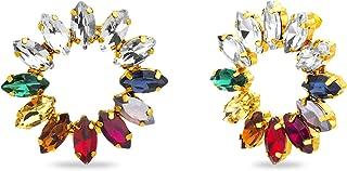 Kensie Rainbow Colored Rhinestone Circle Stud Earrings for Women