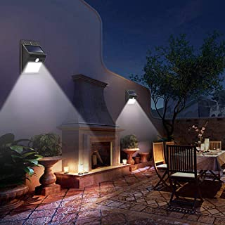 مستشعر حركة ومصباح اضاءة يعمل بالطاقة الشمسية مضاد للماء مع 8 اضواء LED، مجس بيروكهربي للاستخدام في اضاءة الحدائق والممرات...