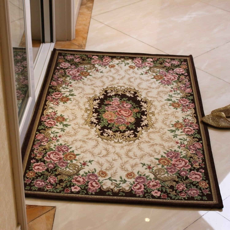 European-Style Woven mats The Hall mat Bedroom Living Room Door Anti-Skid mats Indoor Absorbent pad-L 80x120cm(31x47inch)