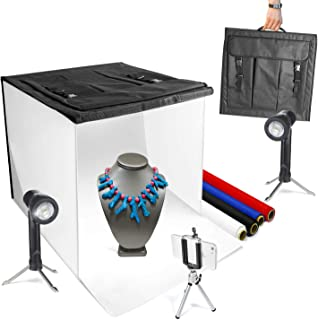 Cellphone Clip Holder AGG2621 LimoStudio Photo Studio 16 Inch Cube Box 70 LED Lighting Shooting Tent Box Kit with Table Top Mini Stand Bluetooth Remote Shutter