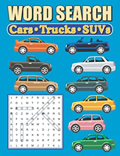 Word Search Cars - Trucks - SUVs: Large Print Word Find Puzzles