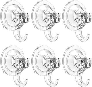 Elegear Ganchos Ventosa baño Cocina [6Unidades] Colgador Pared sin Agujeros ni Rastros Perchas Ventosa Pared Super Fuertes para Escobas Ropa Toalla Llaves (6 Pack)