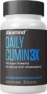 Alkamind Daily Cumin3x - Black Cumin Seed Oil - Super Powerful All-Natural Anti-Inflammatory - Cold-Pressed Pure Black Cumin Seed Oil
