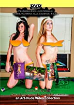 Two Nude Girls Playing Billiards featuring Cadence Laci Debbie Katarina and Alli