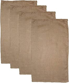 Burlap 4 Pack Potato Sack Race Bag 24x 39 Inch - Made from Sturdy Rugged 100% Natural Eco-Friendly Jute Burlap