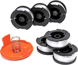 X Home Durable AF-100 Spool spools and Cap Combo set ، سازگار با اکثر دستگاههای برش سیاه و دکمه ای ، نصب آسان ، (6 x spool 1 x cap)