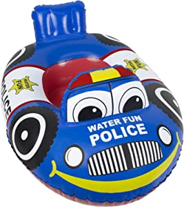 Poolmaster Learn-to-Swim Baby Swimming Pool Float Rider, Police Car