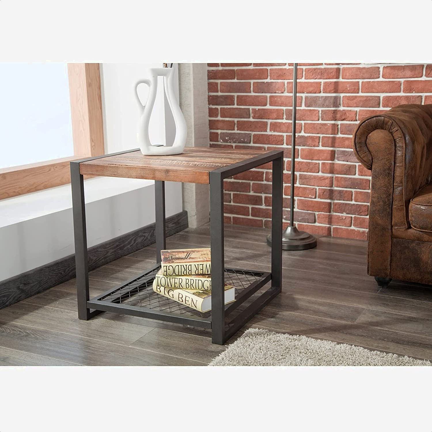 Sawyer Luxury goods End Table Integrated Wireless shopping Base No Surface: Charging