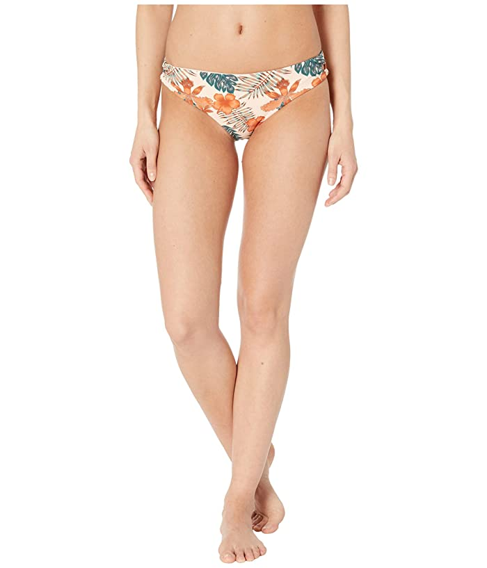 Roxy Print Softly Love Reversible 70s Lace-Up Bottoms (Cream/Tan Tropicalababa) Women