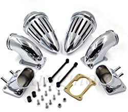 NBX- Bullet Dual Air Cleaner Kit Intake Filter For Compatible with Suzuki Boulevard M109 All year