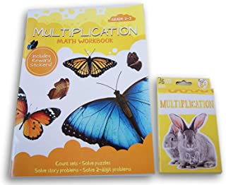 ''Multiplication'' Discovery Workbook with Reward Stickers and Flash Card Bundle - Grades 2-3 by Bendon