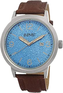 August Steiner Men's Blue Stainless Steel Band Watch - AS8088BU