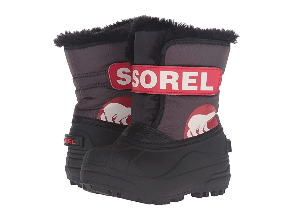 SOREL Kids Snow Commandertm (Toddler/Little Kid) (Dark Grey/Bright Red) Kids Shoes