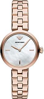 Emporio Armani Women's Quartz Watch analog Display and Stainless Steel Strap, AR11196
