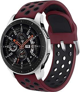 Syxinn kompatibel med 22 mm rem Galaxy Watch 46 mm/Gear S3 Frontier/Classic klockarmband band silikon armband för Moto 360...