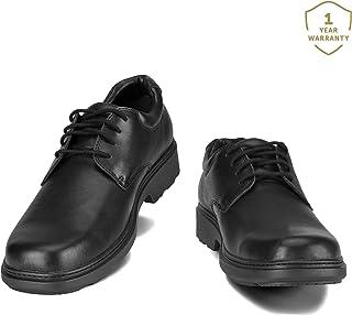Helios Pyrios Junior Unisex Lace Up Work Uniform Office School Leather Shoes Comfy & Durable Unisex 6 Widths-H-Extreme Wide Fit