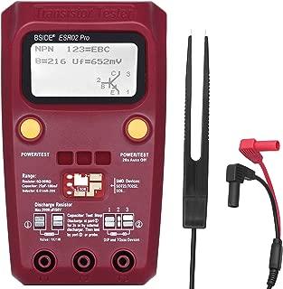 BSIDE ESR02 PRO Transistor Tester SMD Components Checker Mega328 NPN/PNP Diode Resistor Inductor Capacitance ESR Meter with Tweezers