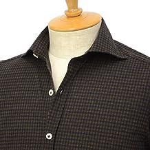 [Giannetto【ジャンネット】]ジャージーチェックシャツ VINCIFIT 92031186370V81 004 コットン カーキ