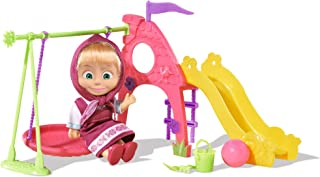 Simba Masha with A Swing, Slide and Many Accessories, 12cm, WB