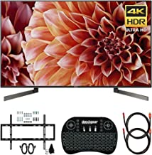 Sony XBR55X900F 55-Inch 4K Ultra HD Smart LED TV (2018) Bundle with Deco Mount Slim Flat Wall Mount Ultimate Bundle, Deco Gear Wireless Keyboard and 2X Deco Gear 6ft HDMI Cable