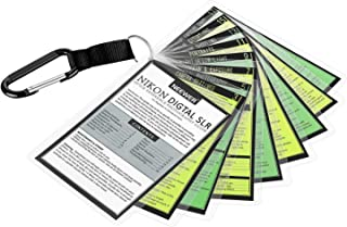 Neewer DSLR Tip Cards Cheat Sheets Compatible with Nikon, Photography Quick Reference Compatible with Nikon D3400 D3300 D3200 D5600 D5500 D5300 D5200 D5100 D7200 D7100 D700 D810 D800 D700 D300S D500