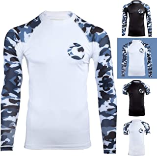Gold BJJ Jiu Jitsu Rashguard - Camo Rash Guard Compression Shirt for No-Gi, Gi, MMA (Long Sleeve & Short Sleeve Available)