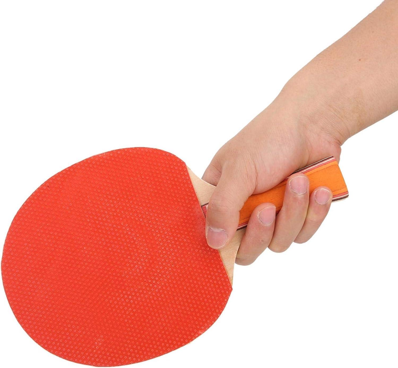 Okuyonic Placa Base de Madera Pura Duradera Alta robustez Paddle Bat Ping Pong Set Equipo Deportivo Ropa para Deportes Fitness para Entrenamiento Competición